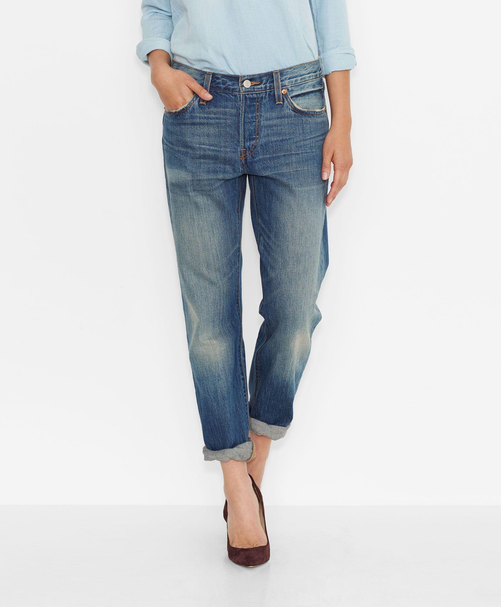 Levi's 501® Original Jeans for Women - Vintage Indigo - Boyfriend ...