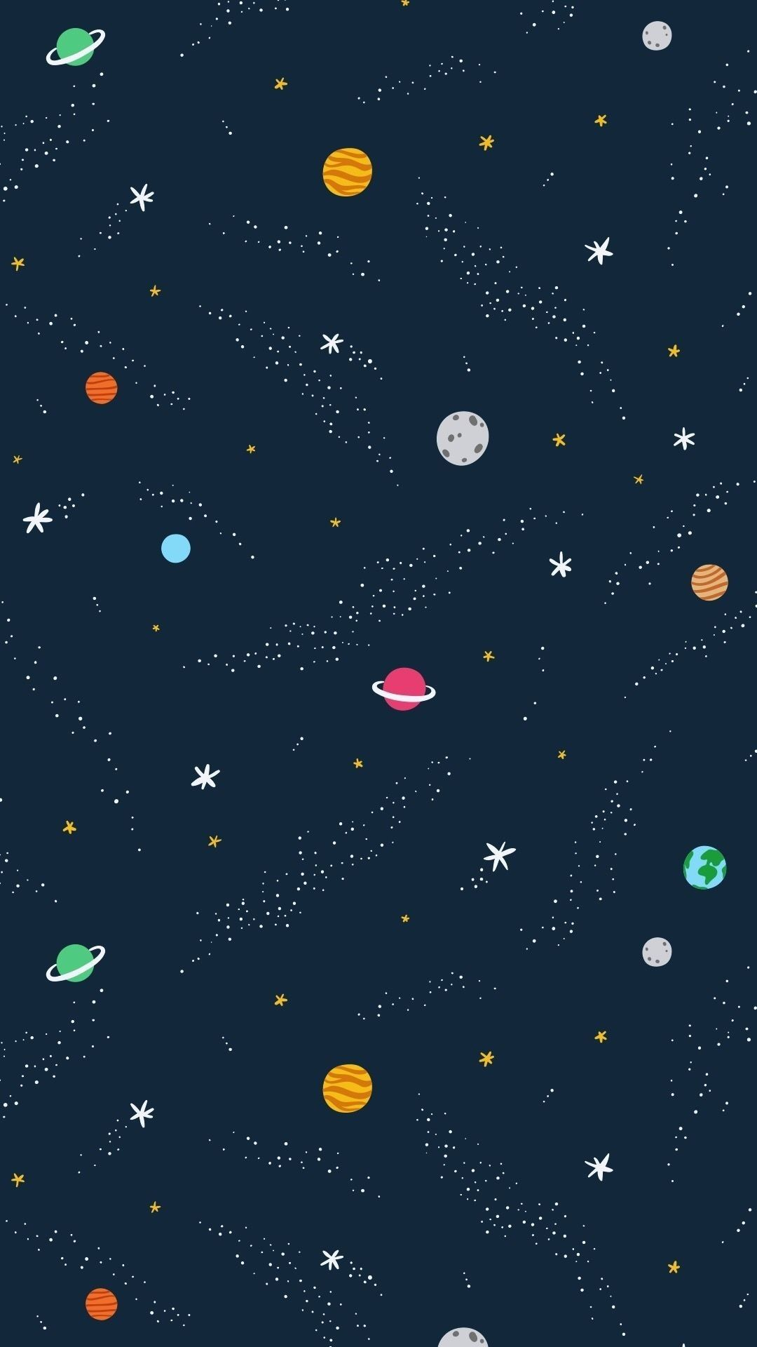 Wallpaper Background Iphone Mobile Space Planets Whatsapp