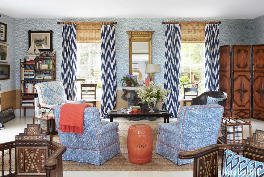 Layers Of Pattern And Colors Decor Home Family Room
