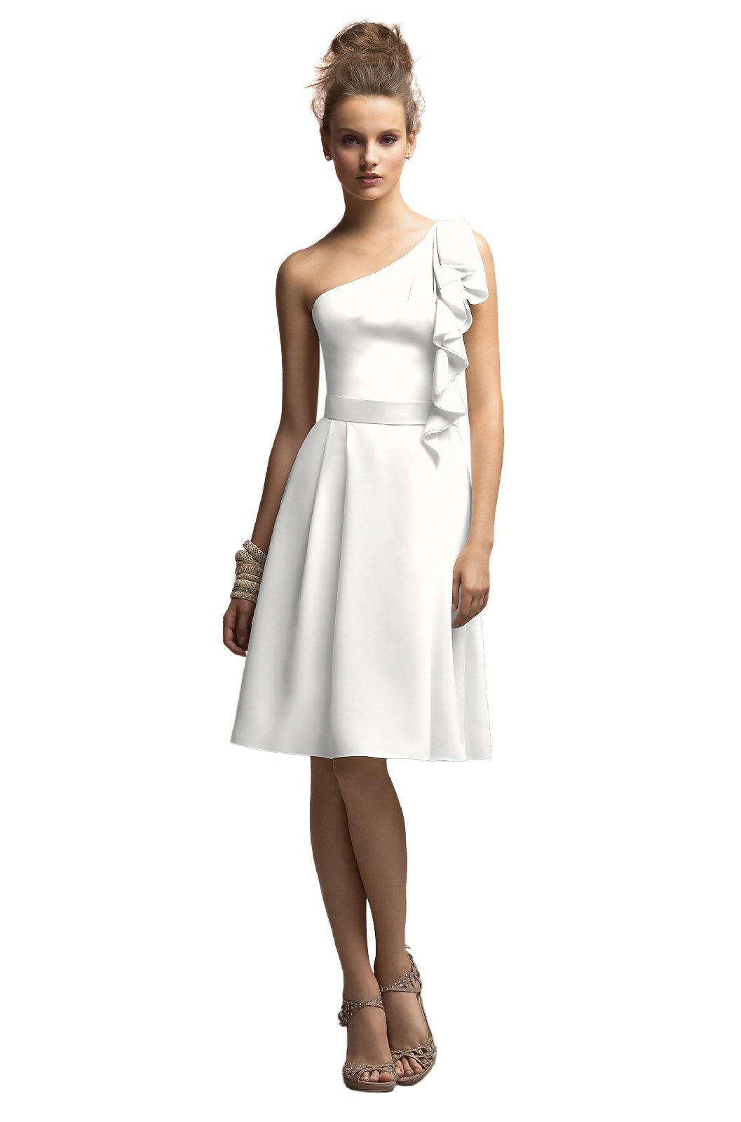 Springsummer short simple wedding dress white pinterest