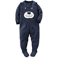228211678b08 CARTER S Boy s PUPPY DOG Face Fleece Footed Pajama Sleeper ...