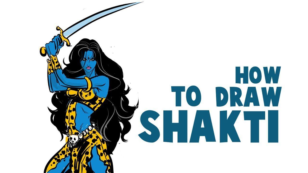 How To Draw Shakti In Krita | Drawing And Coloring Raj Comics