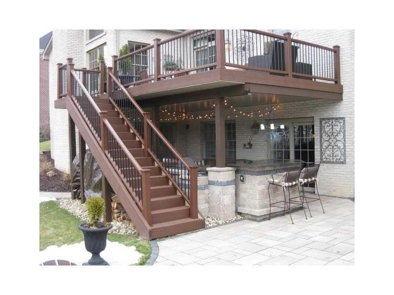 Outdoor Kitchen Under Deck Patio Deck Designs Decks Backyard