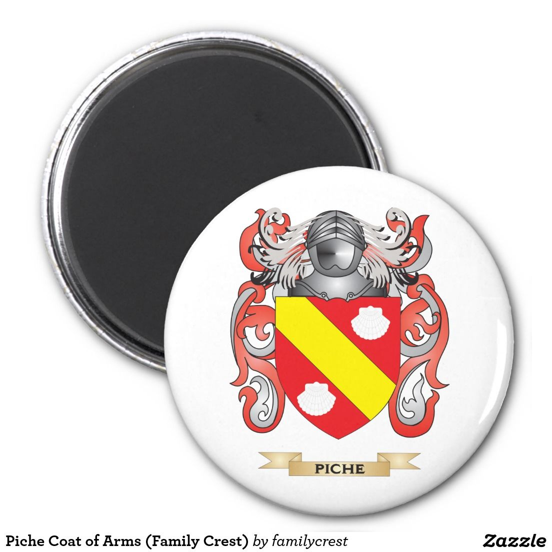 Piche Coat of Arms (Family Crest) Magnet | Fun Gift Ideas