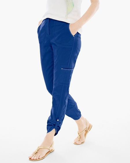 Luxe Twill Utility Crop Pants