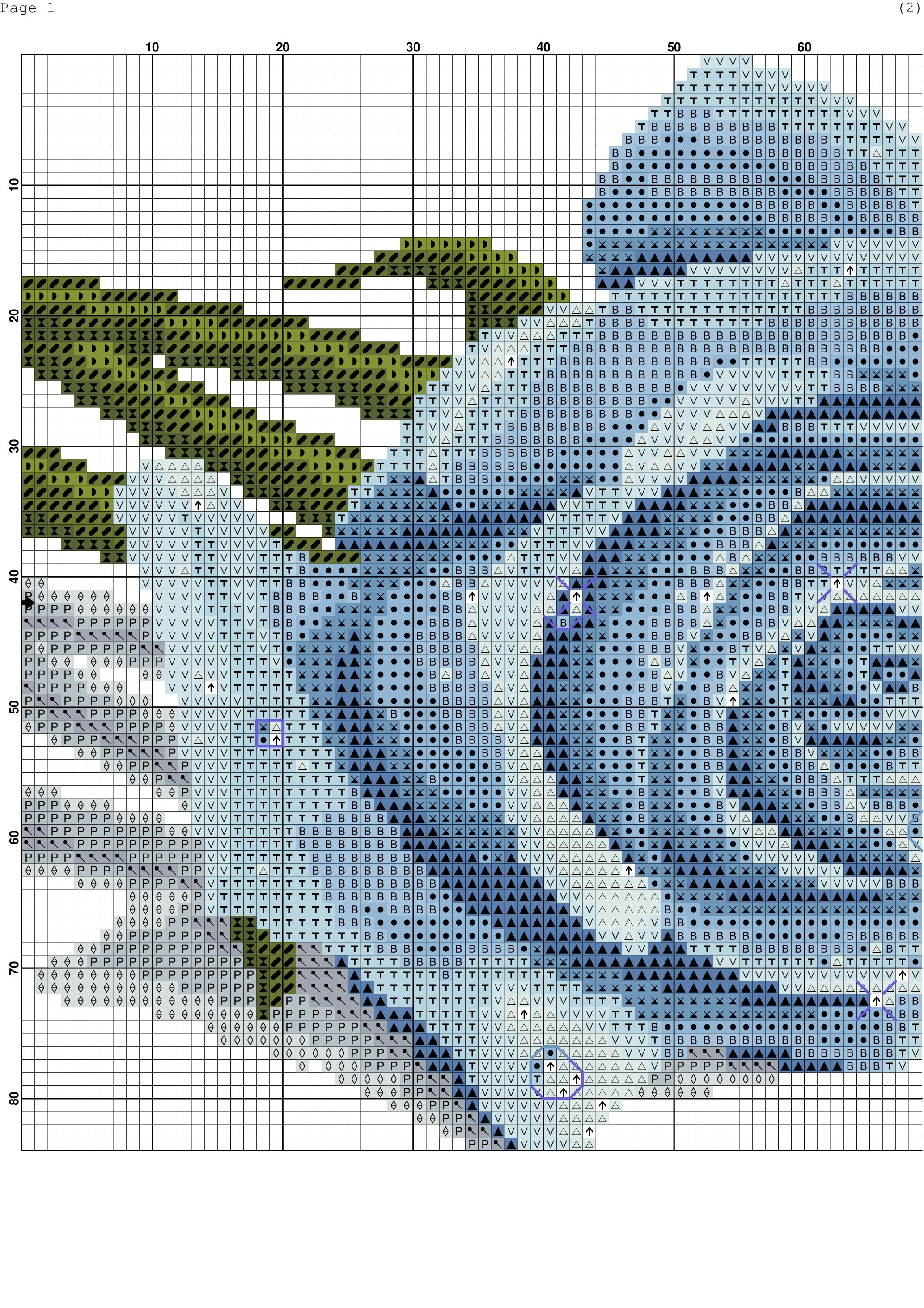 Light blue rose xstitching flowersplants pinterest