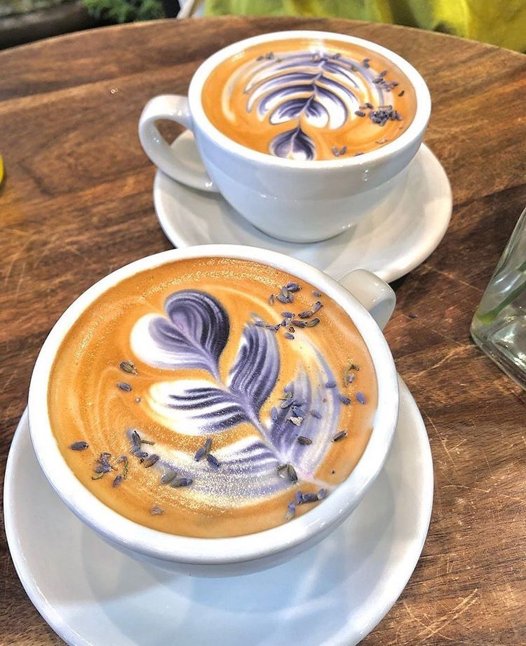 The Spot For Coffeelovers On Instagram Double Lavender Coffee Tag Someone You D Love To Share A Coffee With Right Now In 2020 Cafe Food Coffee Recipes Food