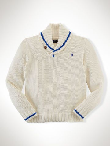 97ec8e3a5 Cotton Shawl-Collar Sweater - Boys 8-20 Sweaters - RalphLauren.com ...