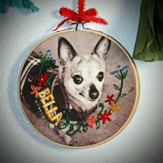 Hand Embroidery on Photograph DIY #inveritasest