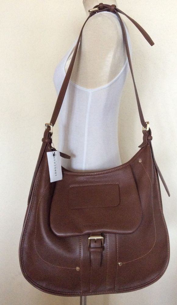 LONGCHAMP  BALZANE CROSSBODY HOBO  BAG OAK BROWN  NWT HARD TO FIND #Longchamp #Hobo