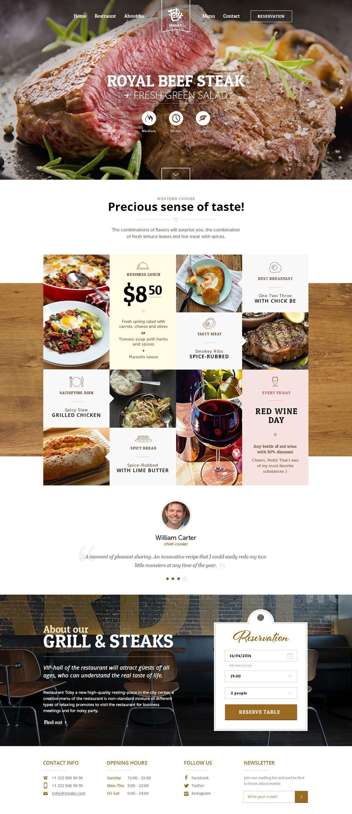 Toby Steaks layout