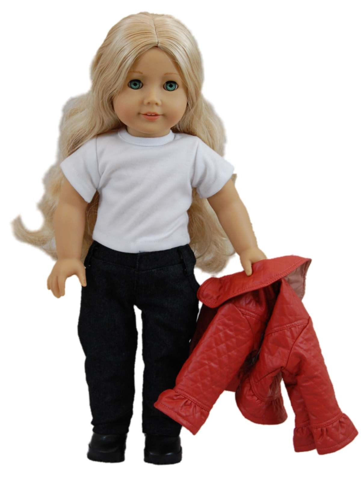"Our Rodeo Drive shopping outfit says ""Pure Fashionista."" Sized perfectly for 18 inch dolls, such as, American Girl Dolls®."