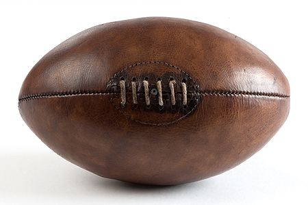 34a698c278b5b Hand stitched genuine leather, vintage 1930's-1950's Rugby Ball Full-Size.