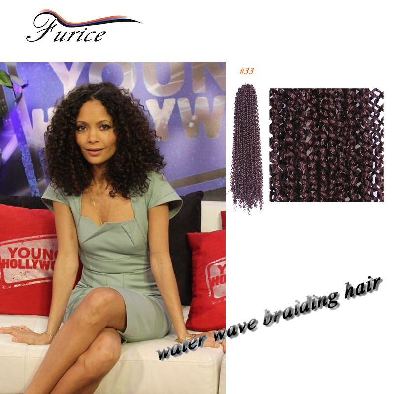 Aliexpress buy short natural black 18 inch marleybob crochet aliexpress buy short natural black 18 inch marleybob crochet braids hair extensions curly synthetic freetress water wave hair blonde color from pmusecretfo Images