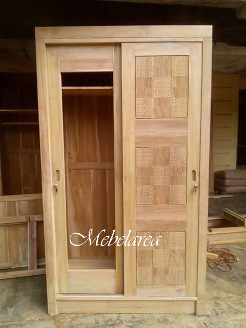 Lemari Pakaian Pintu Sliding Minimalis Wood Work Pallet Bedroom Ideas Woodworking Furniture