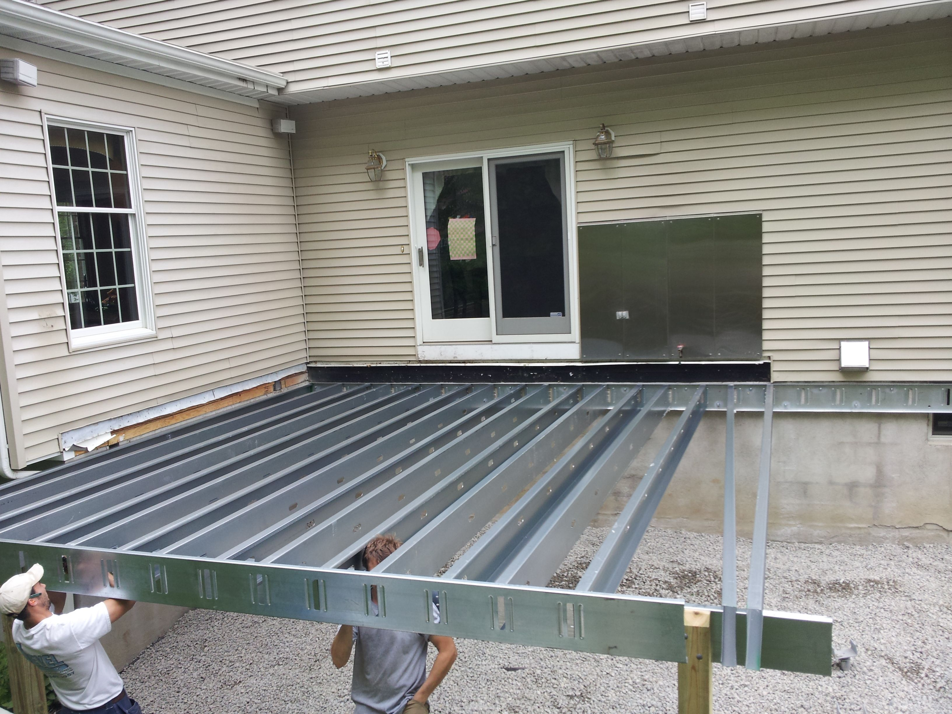 Steel Deck Framing in New Jersey | Decks 4 Cabin | Pinterest | Deck ...