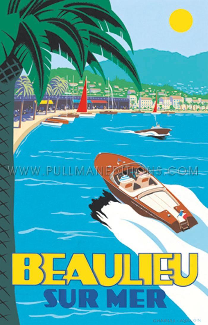 Vintage Art Deco Colour Travel Poster MARSEILLE 1920s France Old Port Steamship