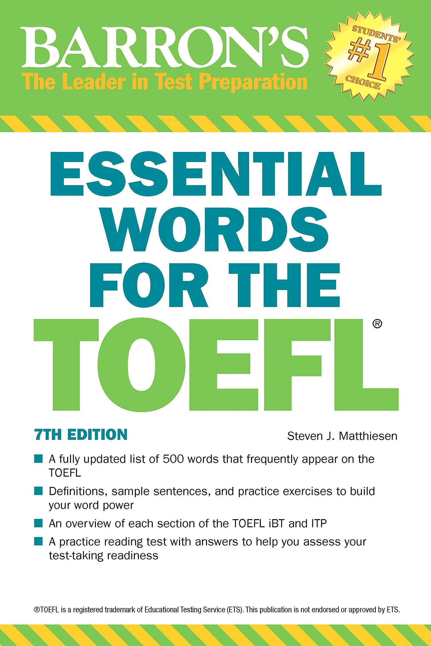 Video Review] Essential Words For The Toefl, 7Th Edition
