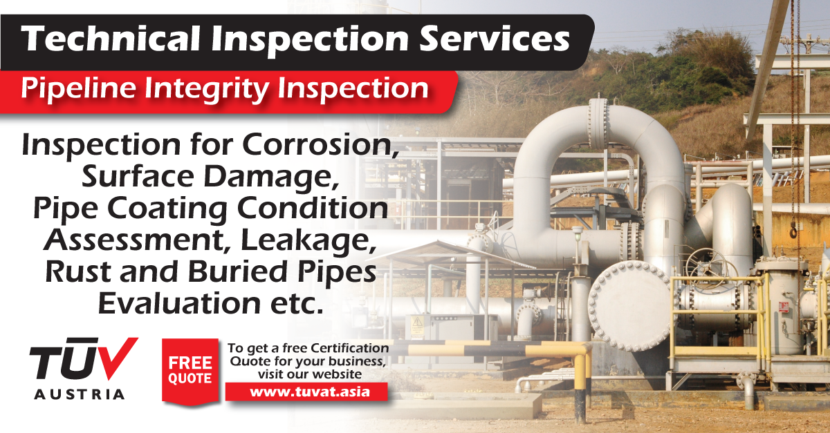 TUV Austria Pipeline Integrity Inspection. No compromise on safety. For further queries : tuvat.asia/get-a-quote or call Pakistan: +92 (42) 111-284-284 | Bangladesh +880 (2) 8836404 #ISO #TUV #certification #inspection #pakistan #iso9001 #bangladesh #srilanka #lahore #karachi #colombo #dhaka #contract #safety #pipeline
