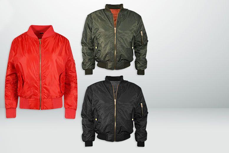 Bomber Jacket - 3 Colours! | Online Passive Earner | Pinterest ...