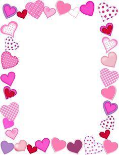 free printable | education | Heart border, Heart frame, Page
