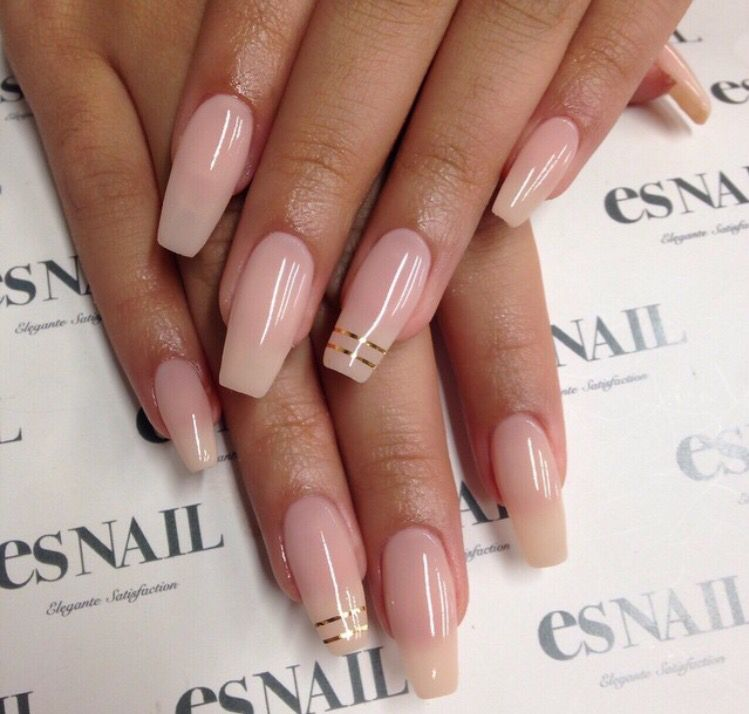 Nude / Natural look gel nails, coffin shape - Pin By Claudia Alemanno On Unghie Pinterest Makeup, Nail Nail