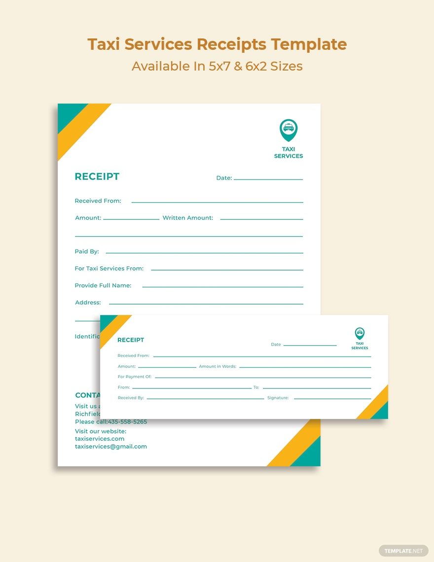 Taxi Services Receipt Template Word Psd Indesign Apple Pages Illustrator Publisher Receipt Template Gantt Chart Templates Templates