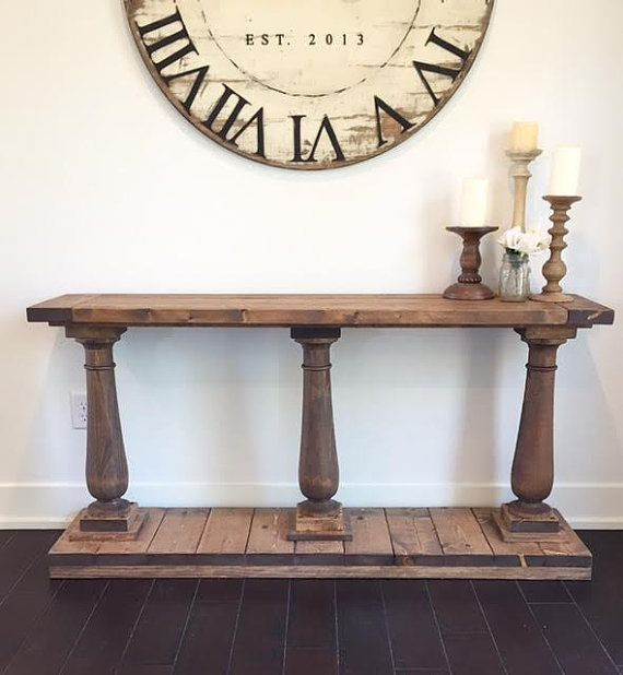Our Triple Leg Baluster Console Table Is A Beautiful Piece For Any