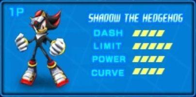 Shadow The Hedgehog Sonic Riders Zero Gravity