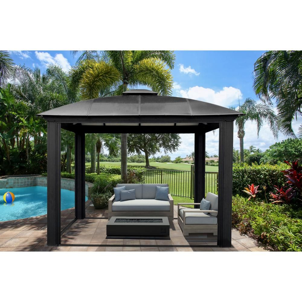 Paragon Outdoor Paragon Outdoor 12 Ft X 12 Ft Aluminum Gazebo Gz3d Aluminum Gazebo Patio Gazebo Gazebo
