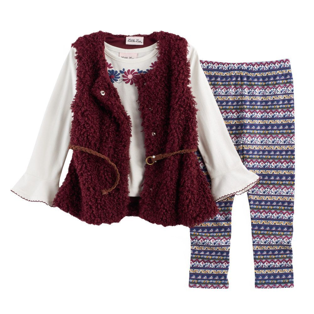 44a37748957e Toddler Girl Little Lass Sweater Vest
