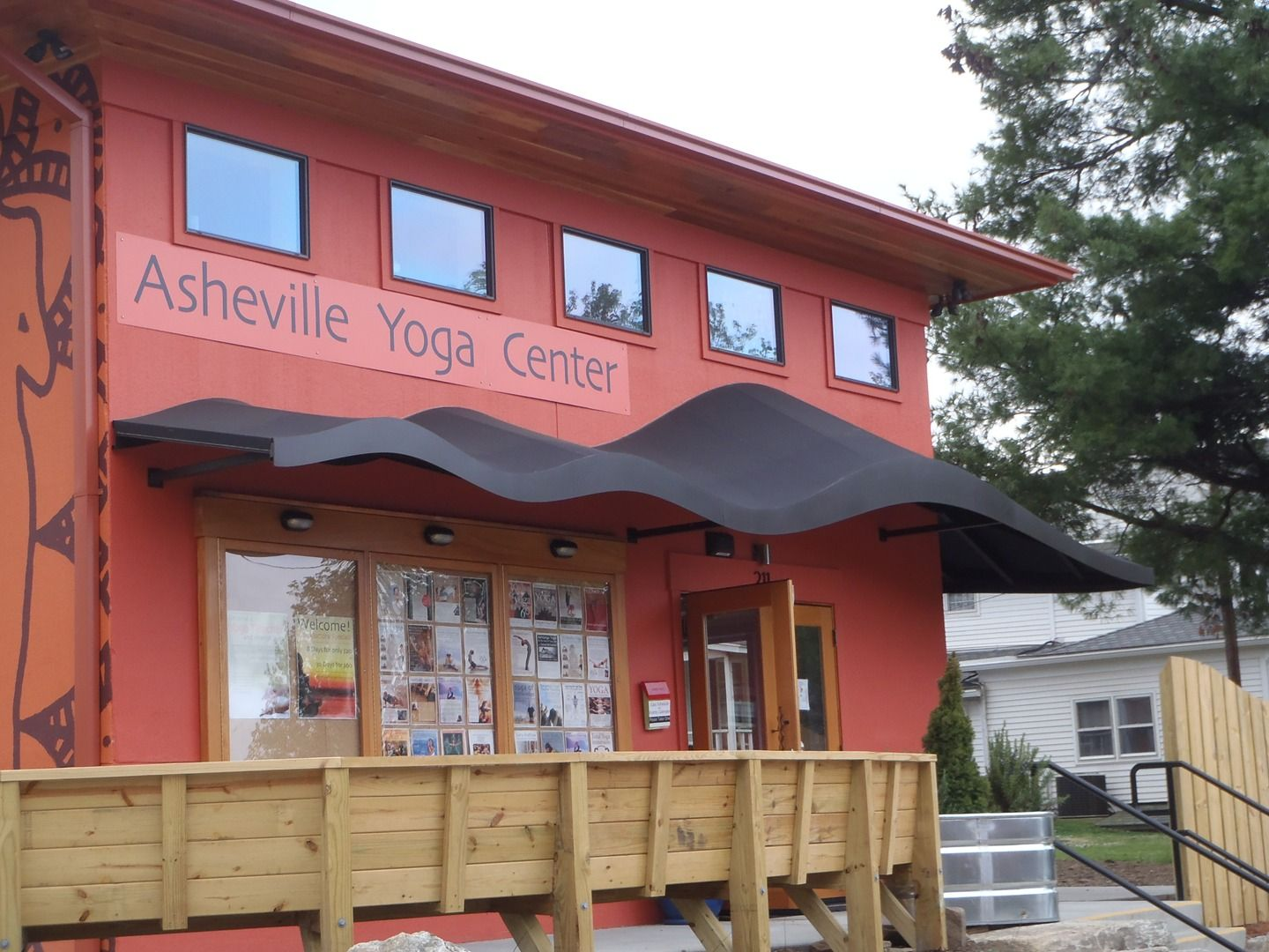 custom awnings for asheville yoga center asheville nc