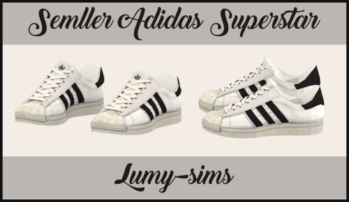 Semller Adidas Superstar [[MORE]]For female and male sims
