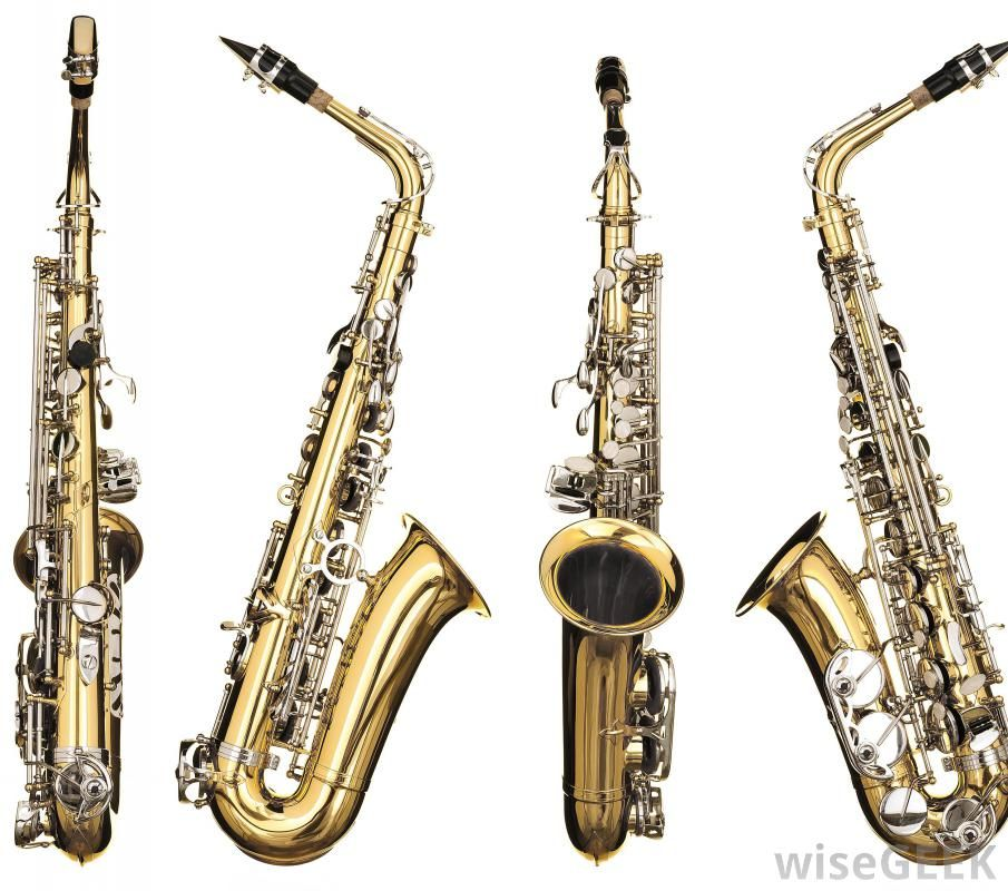 A type of woodwind instrument, saxophones are made of ...