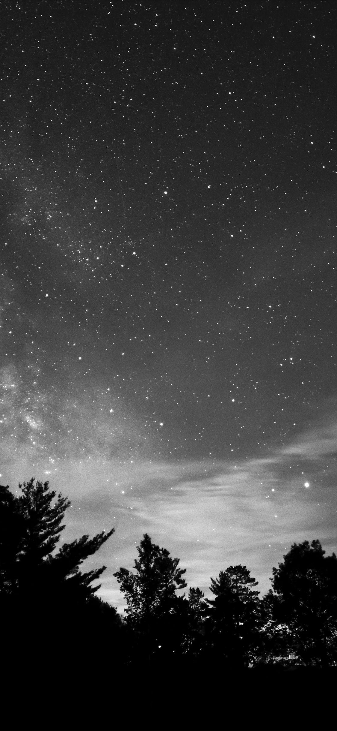 Iphonex Wallpaper Mv72 Sky Night Star Dark Mountain Cloud Shadow Bw Night Sky Wallpaper Dark Mountains Clouds Wallpaper Iphone