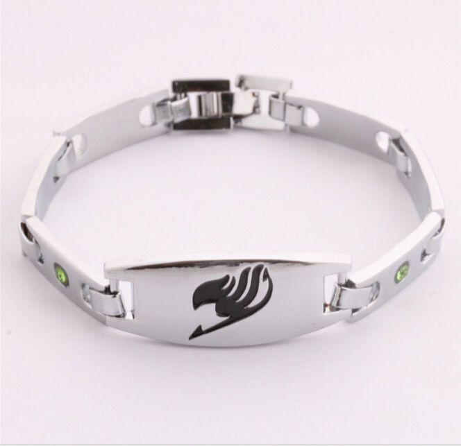 Anime Fairy Tail Mark Inlaid Alloy Bracelet Hand Chains Cosplay Costume ^