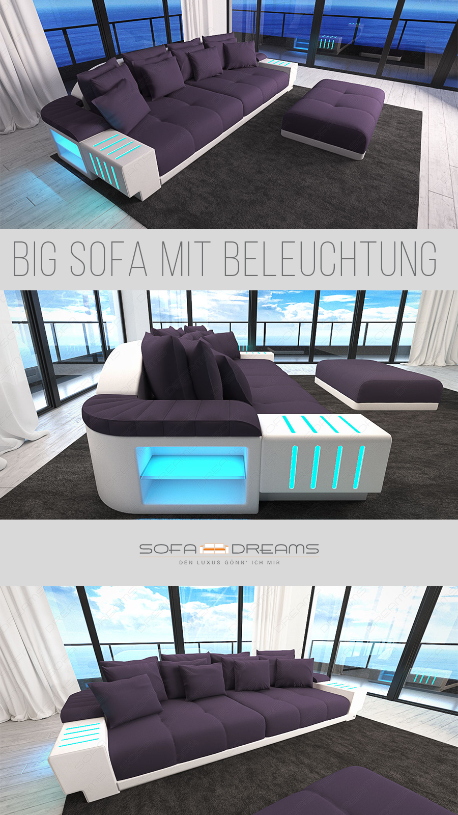 Big Sofa Bellagio In 2020 Grosse Sofas Wohnzimmer Design Sofa