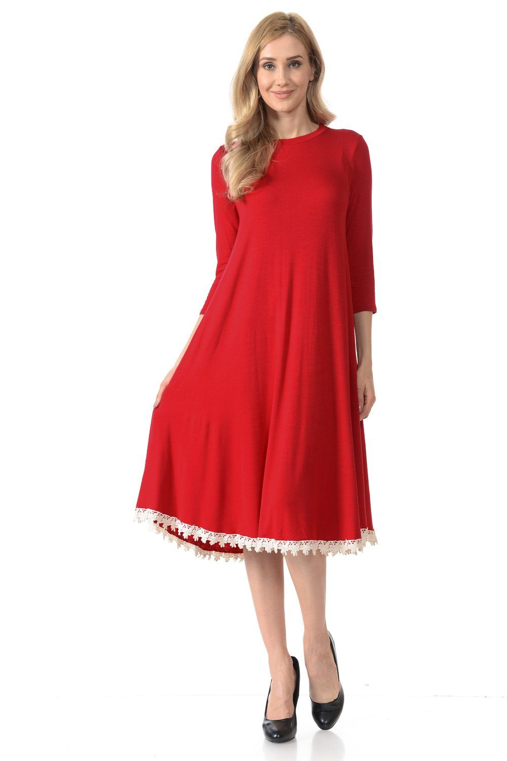 274a8810a6d80 Say Yes to the Dress! This dress is so comfortable and flattering that you  will want to wear it all day long. You can easily dress it up or down with  any ...