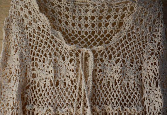 Crochet Dress Women Boho Bohemian Hippie Gypsy by TinaCrochet2016