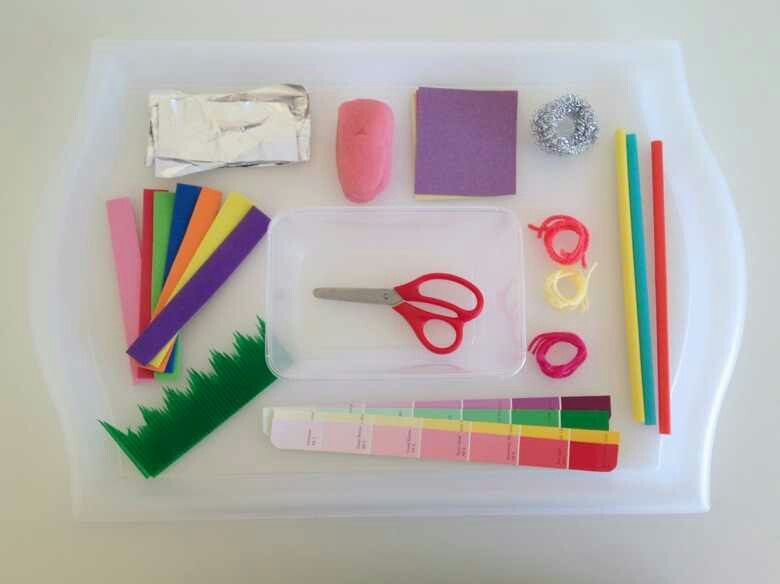 Develop scissor skills with cutting tray - http://mamapapabubba.com/2013/10/16/developing-scissor-skills-with-a-cutting-tray/