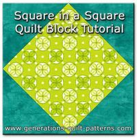 Square in a square quilt block tutorial, two methods, free downloadable paper piecing patterns