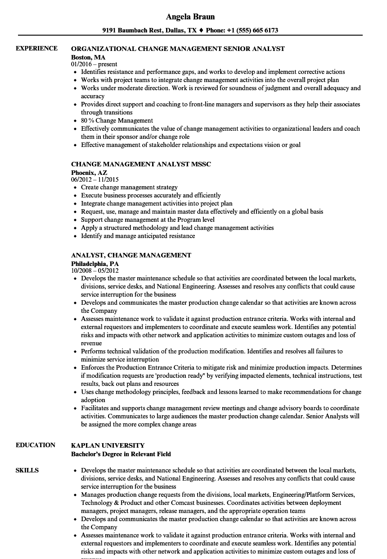 Business Analyst Skills Resume Fresh Analyst Change Management Resume Samples Marketing Proposal Surat
