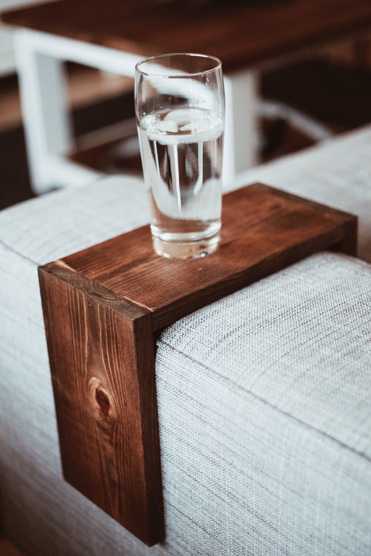 Sofa Tray Table Arm Rest Table In 2020 Arm Rest Table Sofa Arm Table Diy Apartment Decor