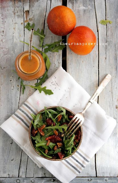 Arugula Blood Orange Salad & Blood Orange Poppy Seed Dressing