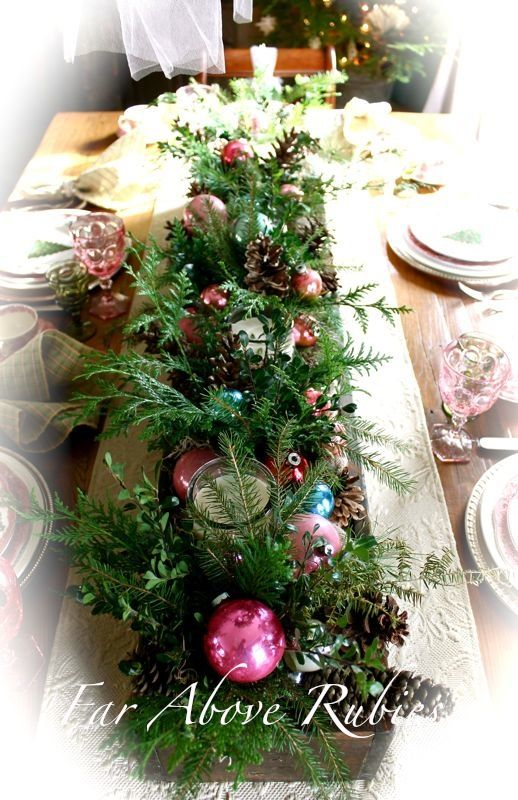 For The Past Year And A Half I Have Been Using A Long Wooden Box We Made Fro Christmas Flower Arrangements Christmas Table Decorations Christmas Centerpieces