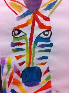 Analogous Zebras Grade 5 6 In 2019 Art Classroom Jr Art