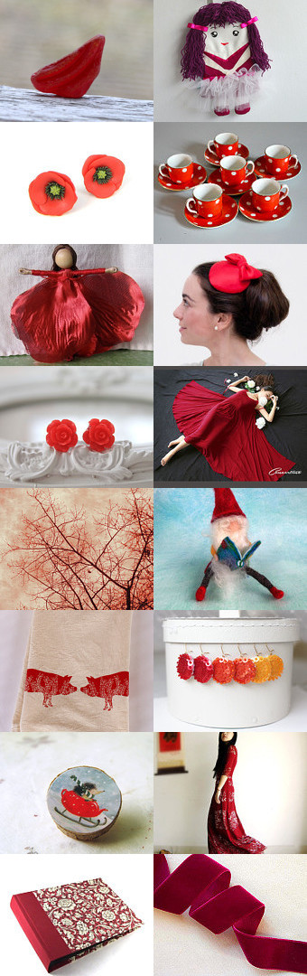Red by Zazie on Etsy--Pinned with TreasuryPin.com