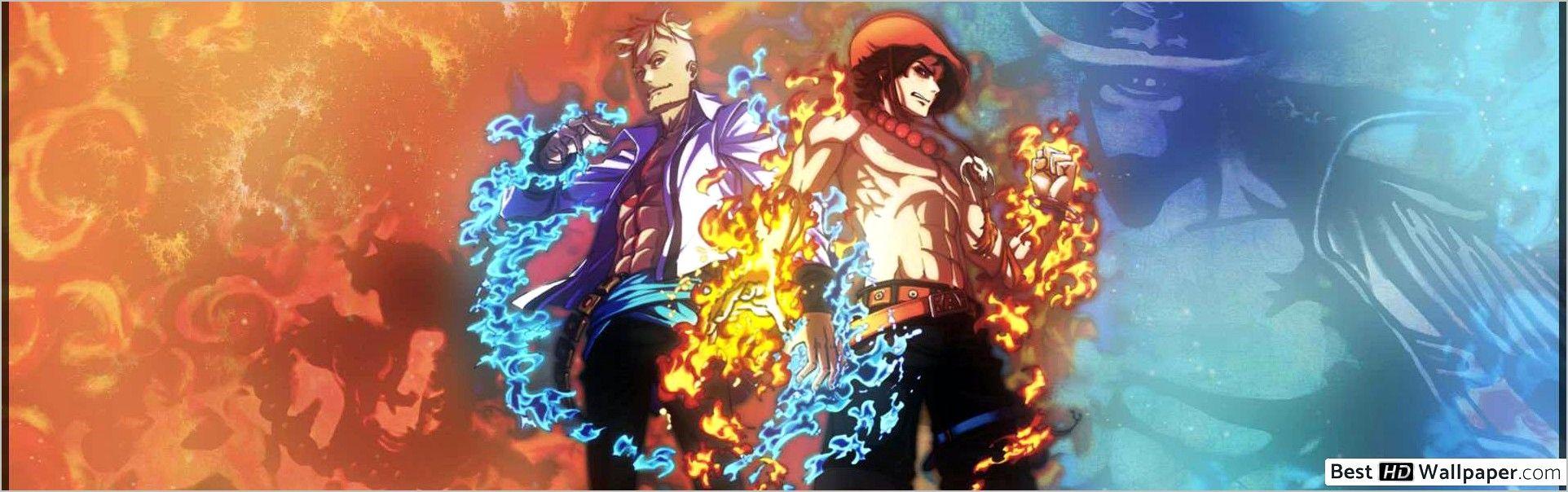 Dual Screen One Piece Dual Monitor Wallpaper