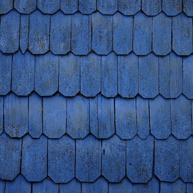 Bleu Reuf Blue Roof Wood Roof Roof Shingles
