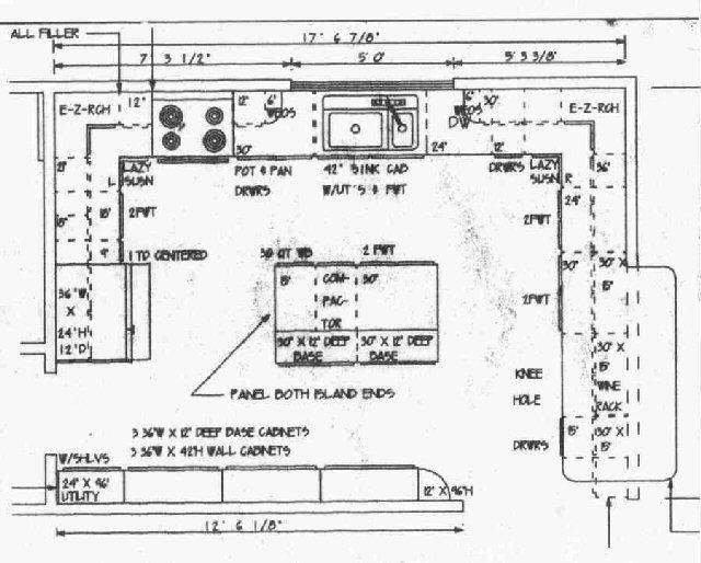 Amazing Kitchen Floor Plan.